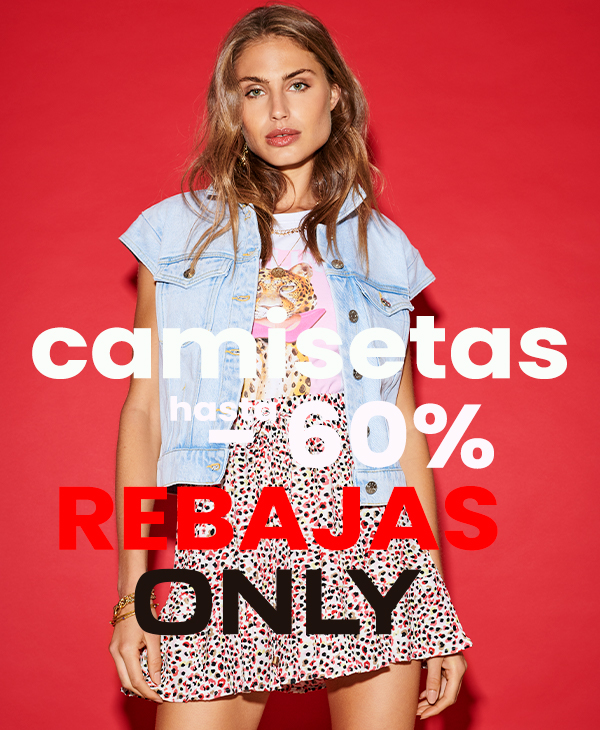camisetas only mujer